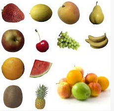 Fruits in groups